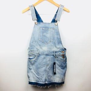 New Denim Overalls Jean Distressed Skirt